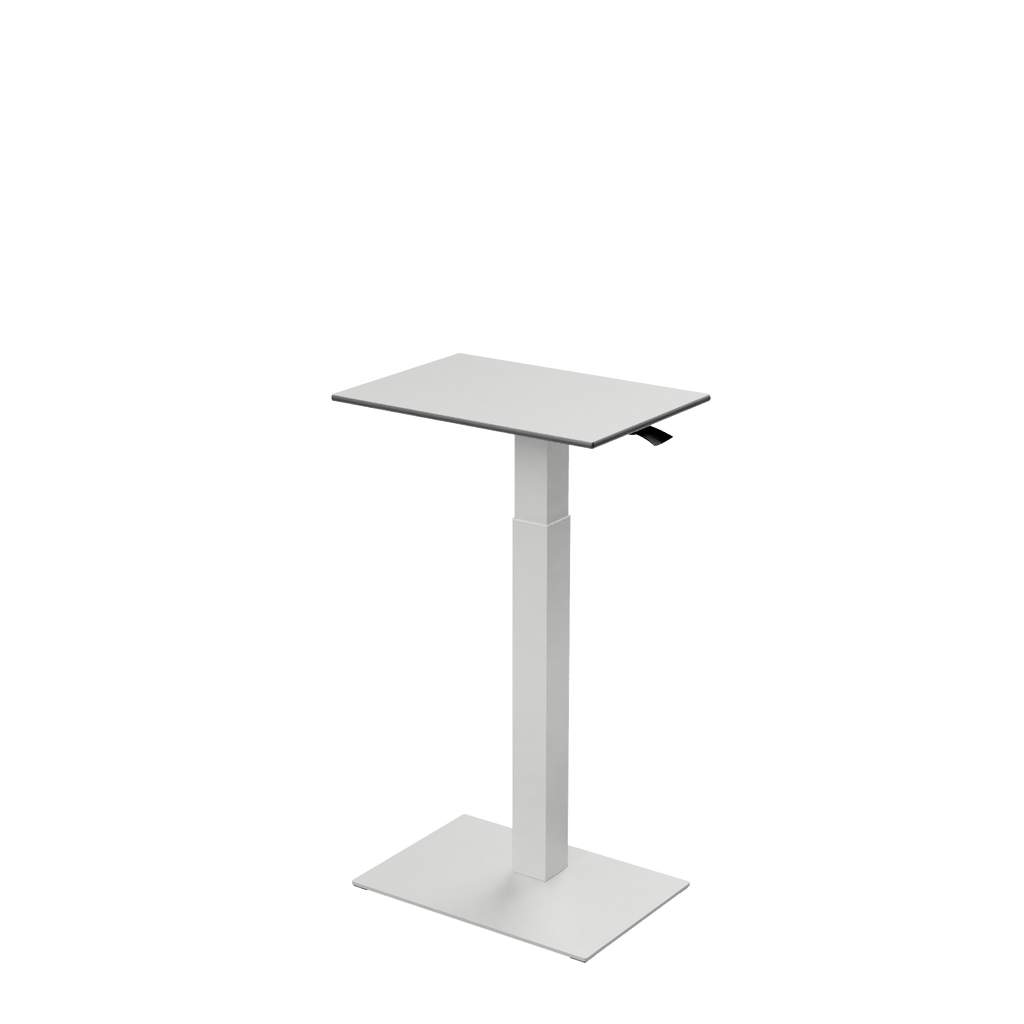 Height adjustable desk Mahtuva S Blackwhite with white base is good choice for remote workers by Selkastore