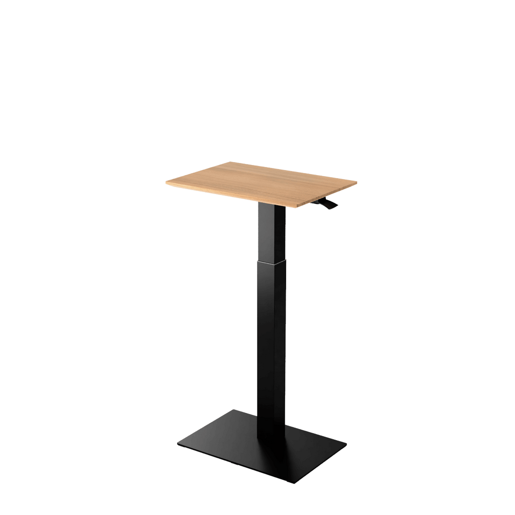 Height adjustable desk Mahtuva S Oak with black base is good choice for remote workers by Selkastore