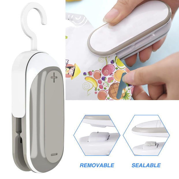 Portable Heat Sealer Plastic Package Storage Bag Mini Device