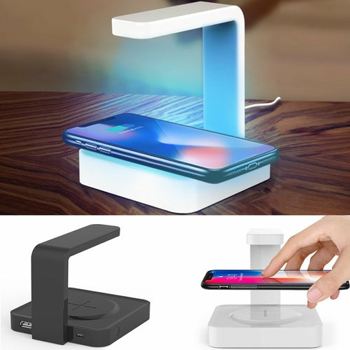 UV Sterilizer with Wireless Charging Portable Station