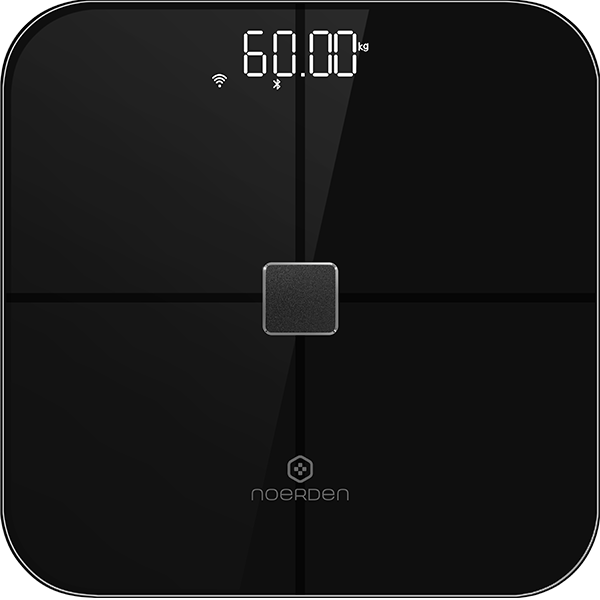 NOERDEN Smart body scale with WiFi & Bluetooth Heart Rate monitor