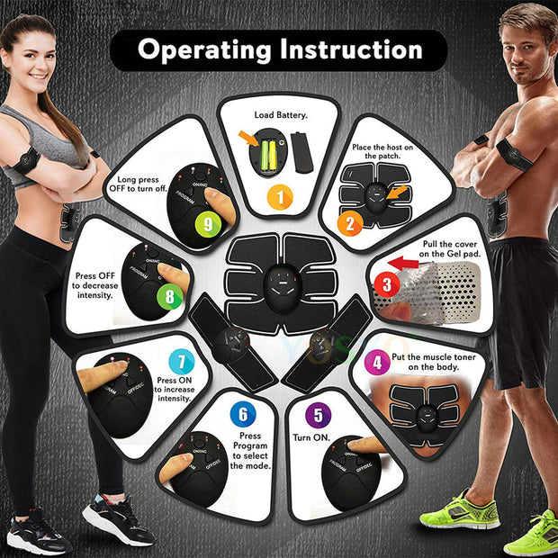 EMS Unisex Muscle Fitness Lifting Abdominal Buttock Trainer Stimulator