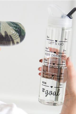 Tracker Water Bottle With Stylish Drinking Volume Label