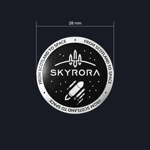 Load image into Gallery viewer, Skyrora Pin Badge: 'From Scotland to Space'