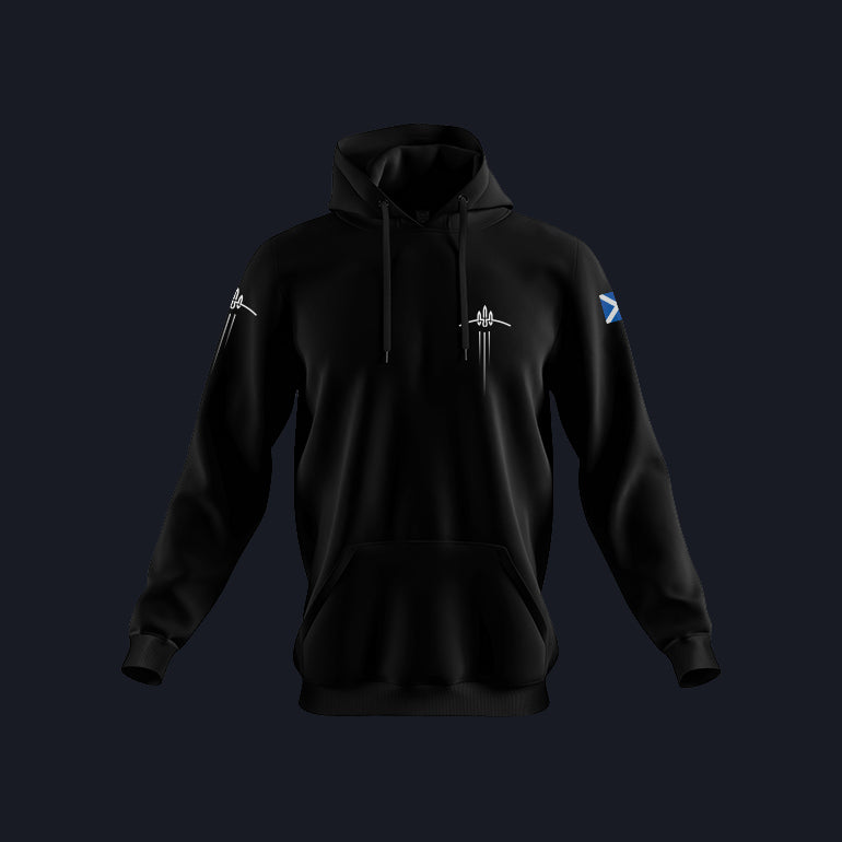 Load image into Gallery viewer, Black Skyrora Jumper with Scotland Flag