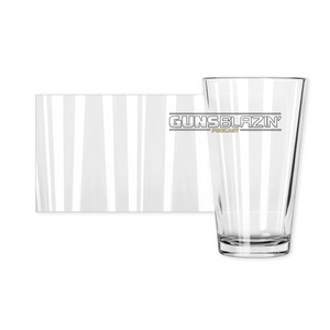 Guns Blazin' Official Pint Glasses