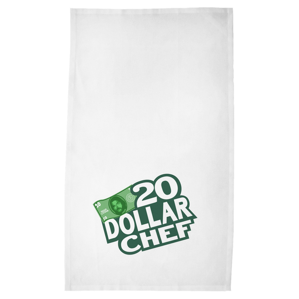 20 Dollar Chef Kitchen Towel, White