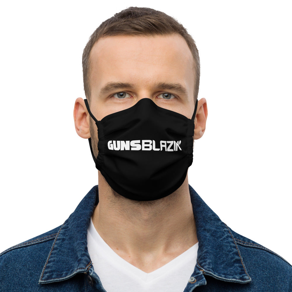 Guns Blazin' Single Line Premium face mask