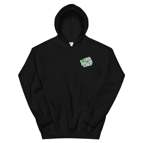 20 Dollar Chef Pocket Print Hoodie