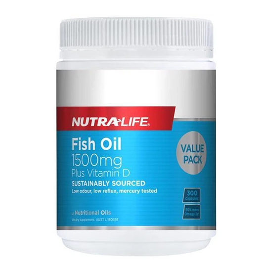 Nutralife Fish Oil 1500mg + VD (300s)