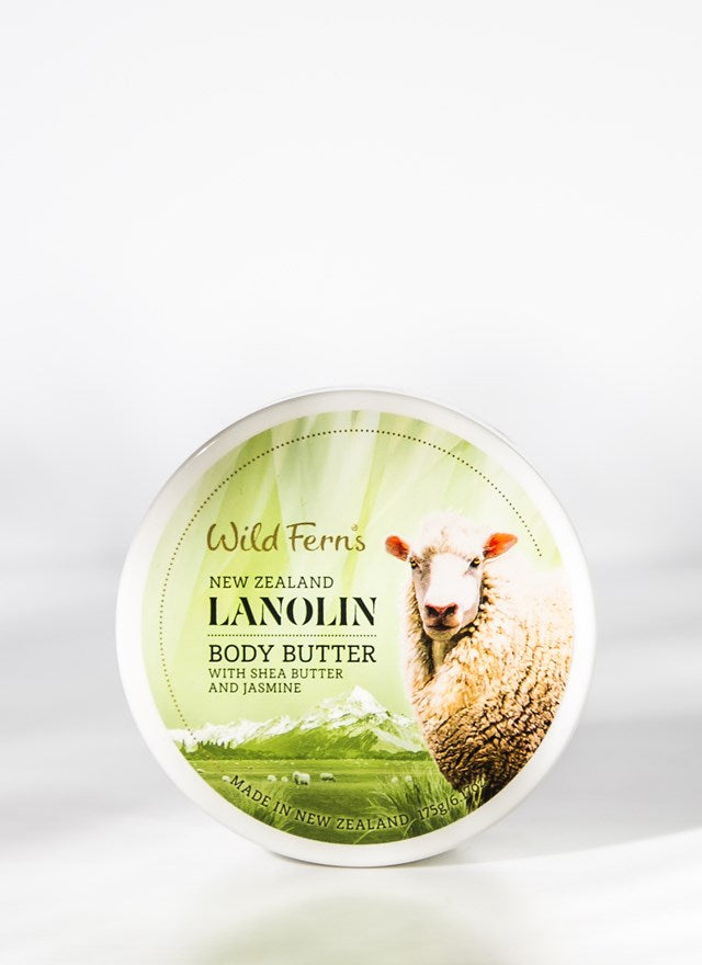 Wild Ferns Lanolin Body Butter with Shea Butter and Jasmine (175g)