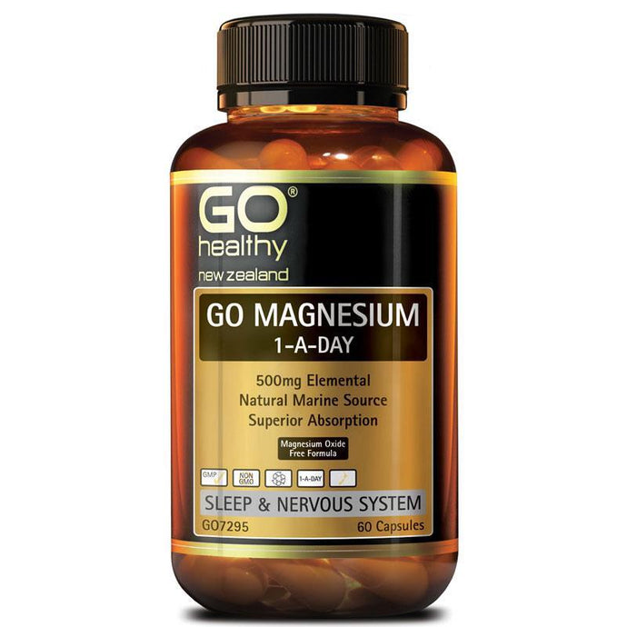 GO Healthy Magnesium One-A-Day 500mg 60c