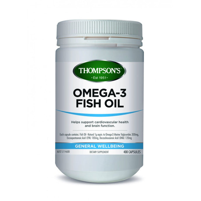 Thompsons Fish Oil 1000Mg (400s)