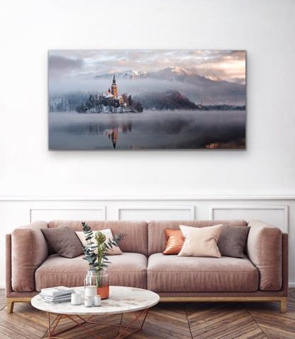 Lake Bled Acrylic Print 180cm x 90cm - In store only