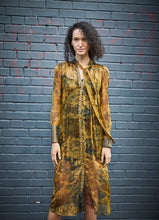 Load image into Gallery viewer, Baroque Chiffon Shirt Dress