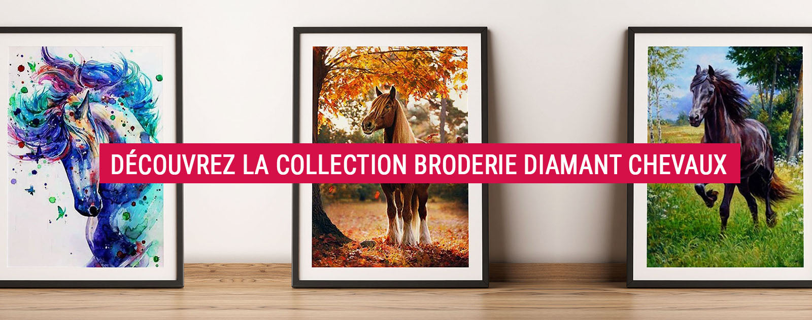 Collection Broderie Diamant Chevaux