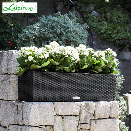 Leizisure Self-Watering Rattan Style Long Planter