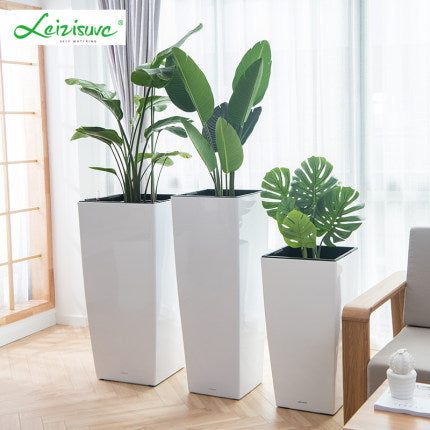 Leizisure Self-Watering Planter High-Trapezoid