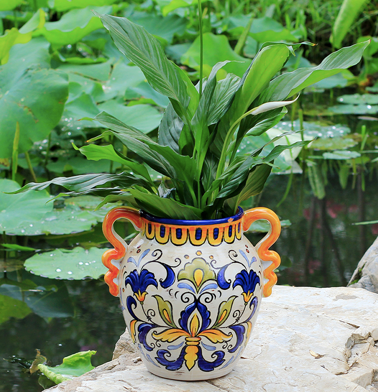 American Style Rural Hand-painted Ceramic Vase - Garden Plus