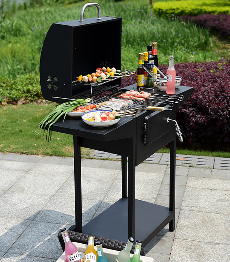 Outdoor American Barbecue Charcoal Courtyard Grill