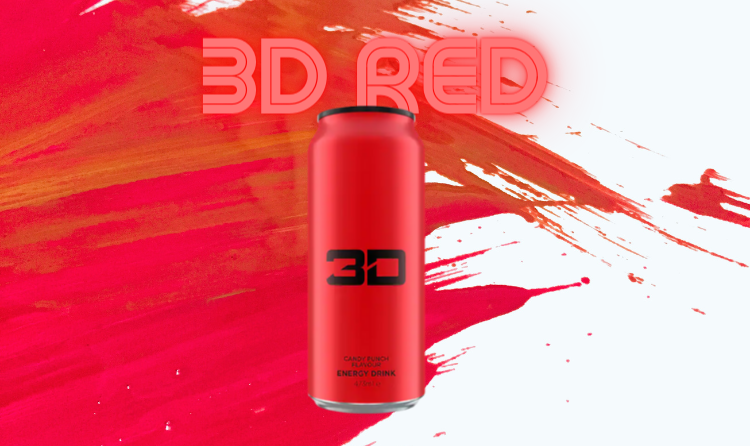 3d Energy Drink Red Candy Punch at Megapump.ie