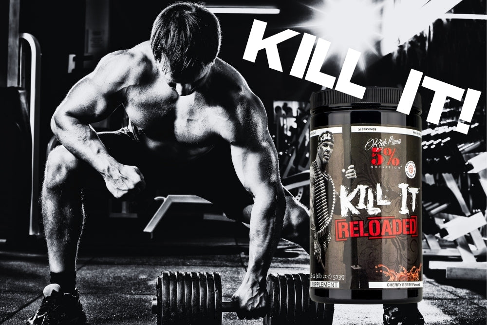 5% Nutrition Rich Piana Kill it reloaded Pre workout at Megapump.ie