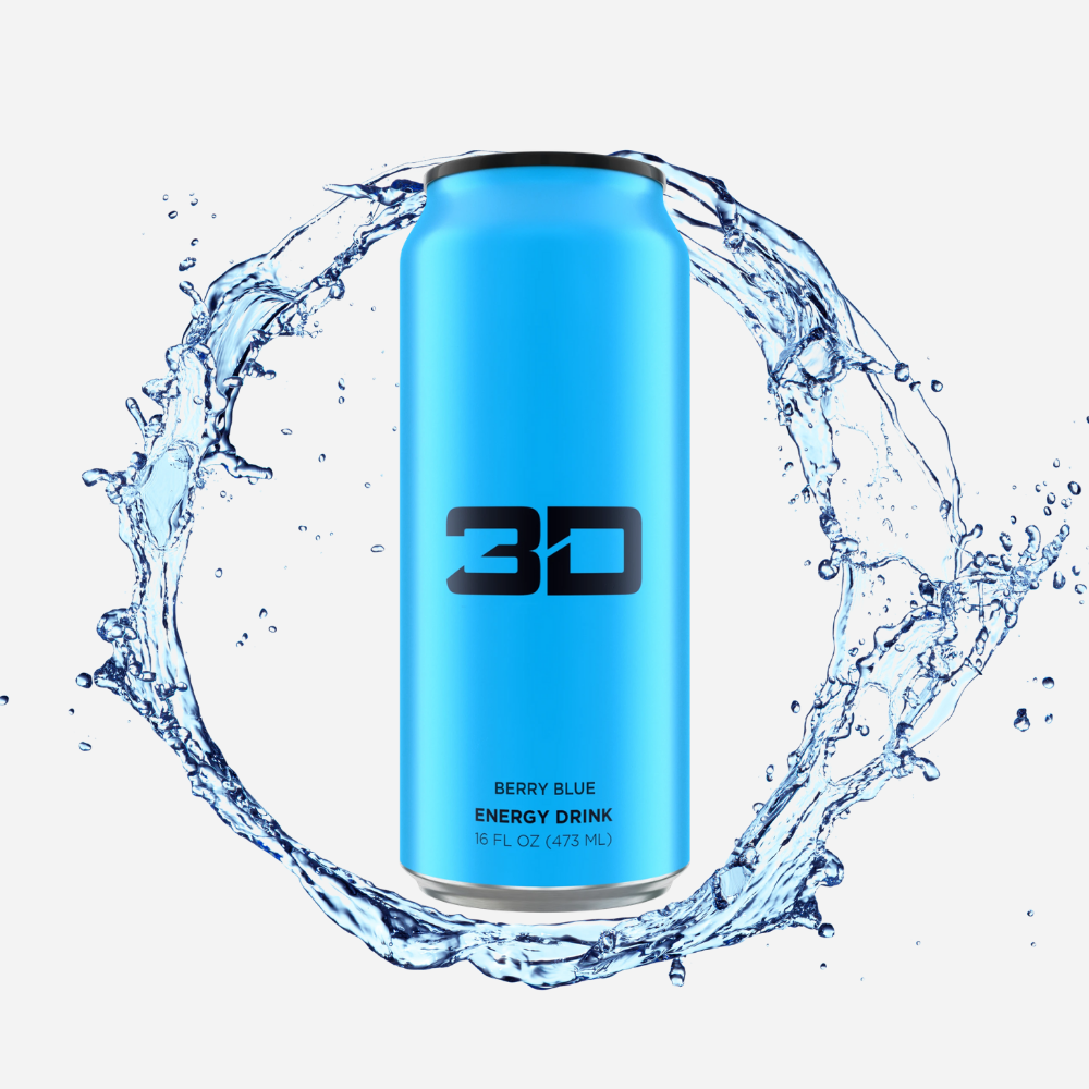 3D Energy Drink Blue Berry Blue 437 ml - Megapump Ireland
