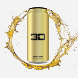 3D Energy Drink Gold Pineapple Coconut 437 ml - Megapump Ireland