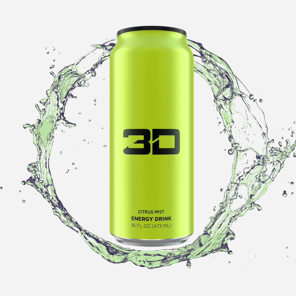 3D Energy Drink Green Citrus Mist 437 ml - Megapump Ireland