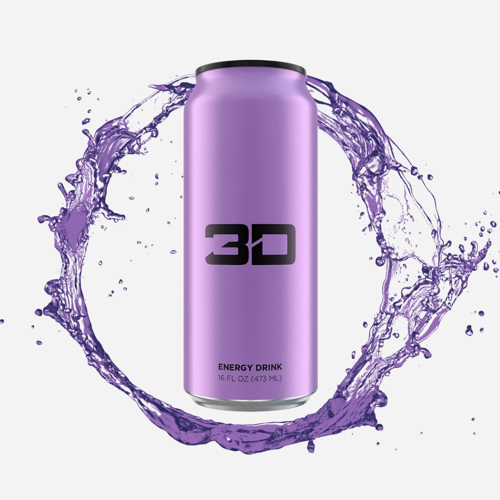 3D Energy Drink Purple Grape 437 ml - Megapump Ireland