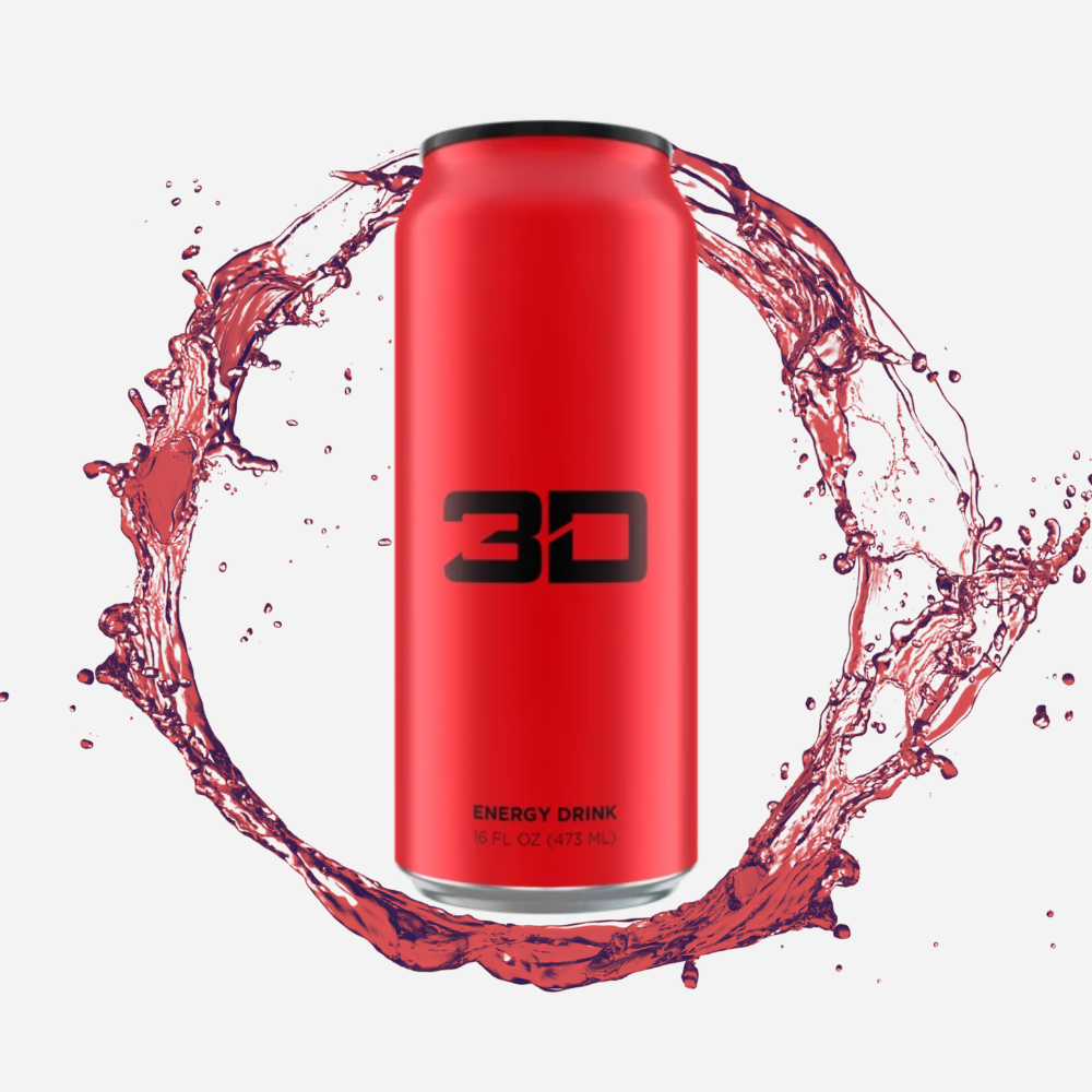 3D Energy Drink Red Candy Punch 437 ml - Megapump Ireland