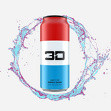 3D Energy Drink Red White and Blue - Liberty Pop 437 ml - Megapump Ireland