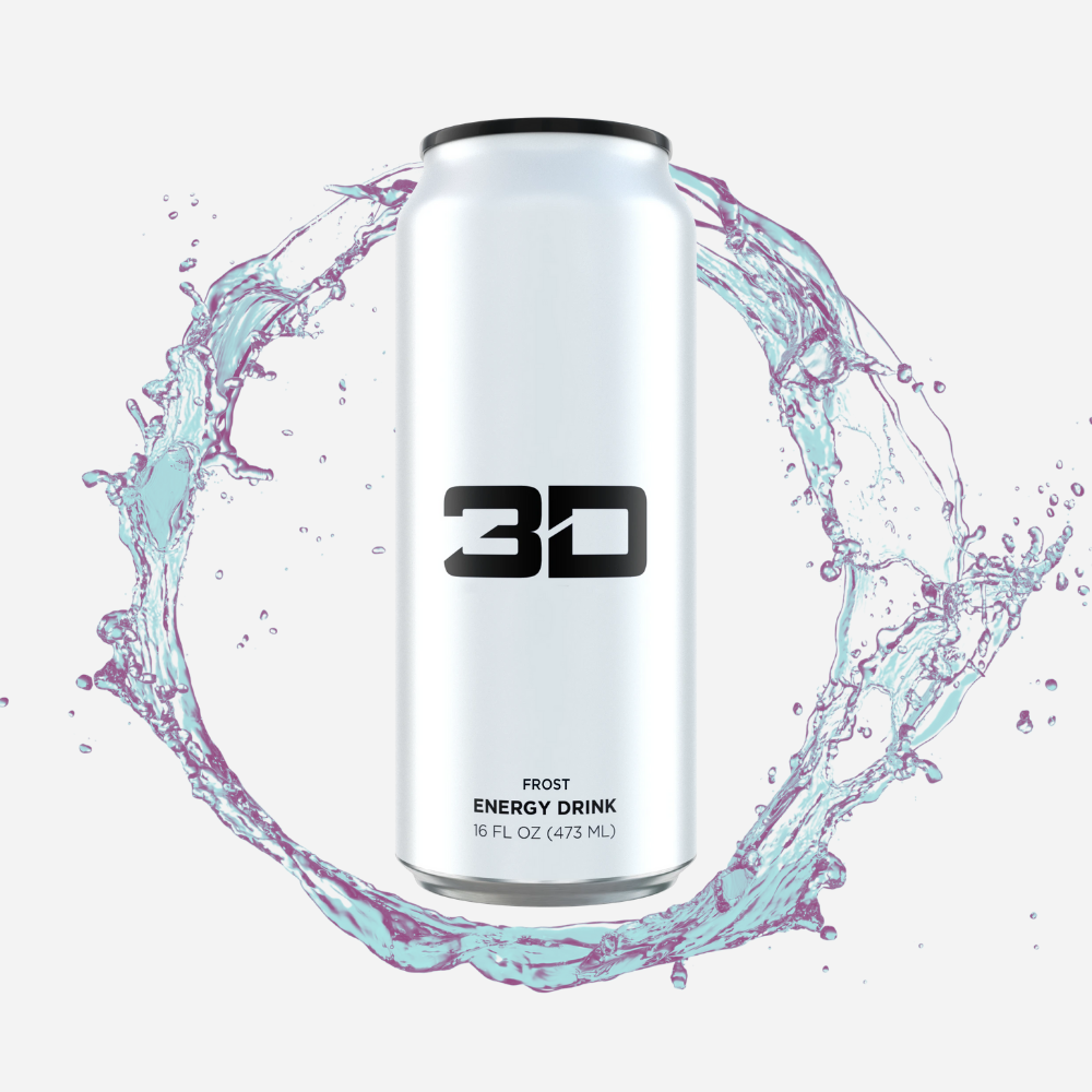 3D Energy Drink White Frost 437 ml - Megapump Ireland