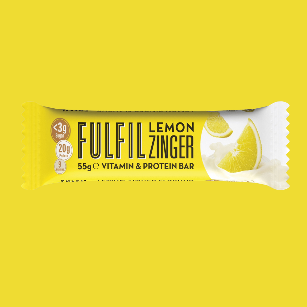 Fulfil Vitamin and Protein Bar - Lemon Zinger 55g - Megapump Ireland