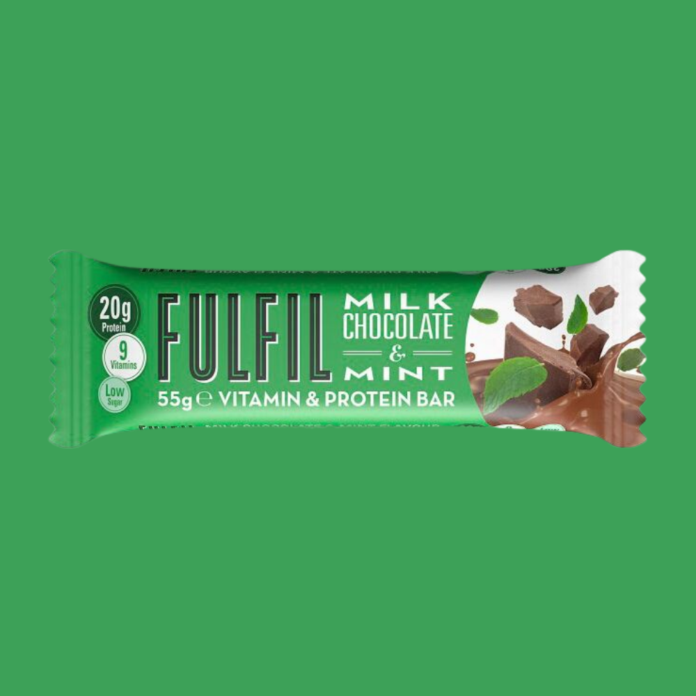 Fulfil Vitamin and Protein Bar - Milk Chocolate & Mint Flavour - Megapump Ireland
