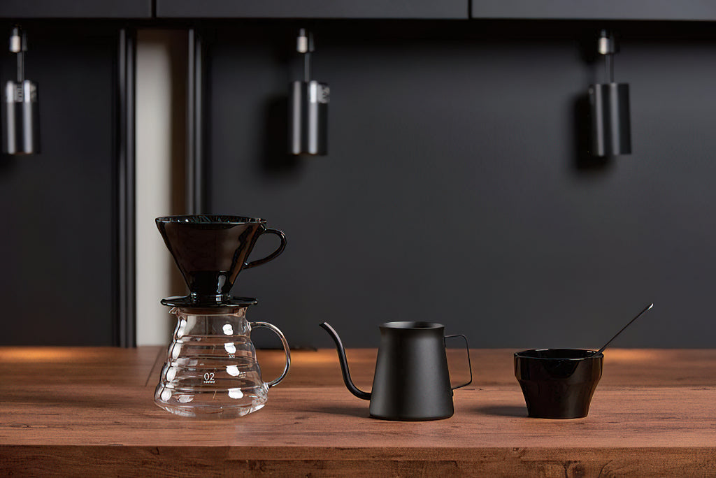Coffee-brewing equipment by Hario.