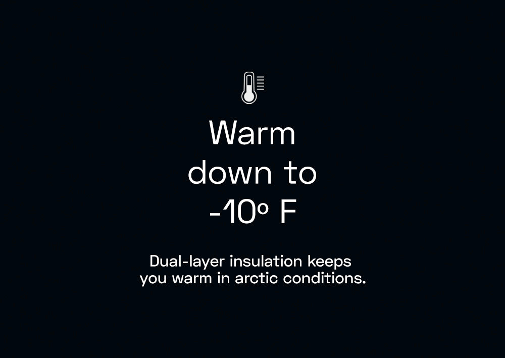 Warm down to -10F