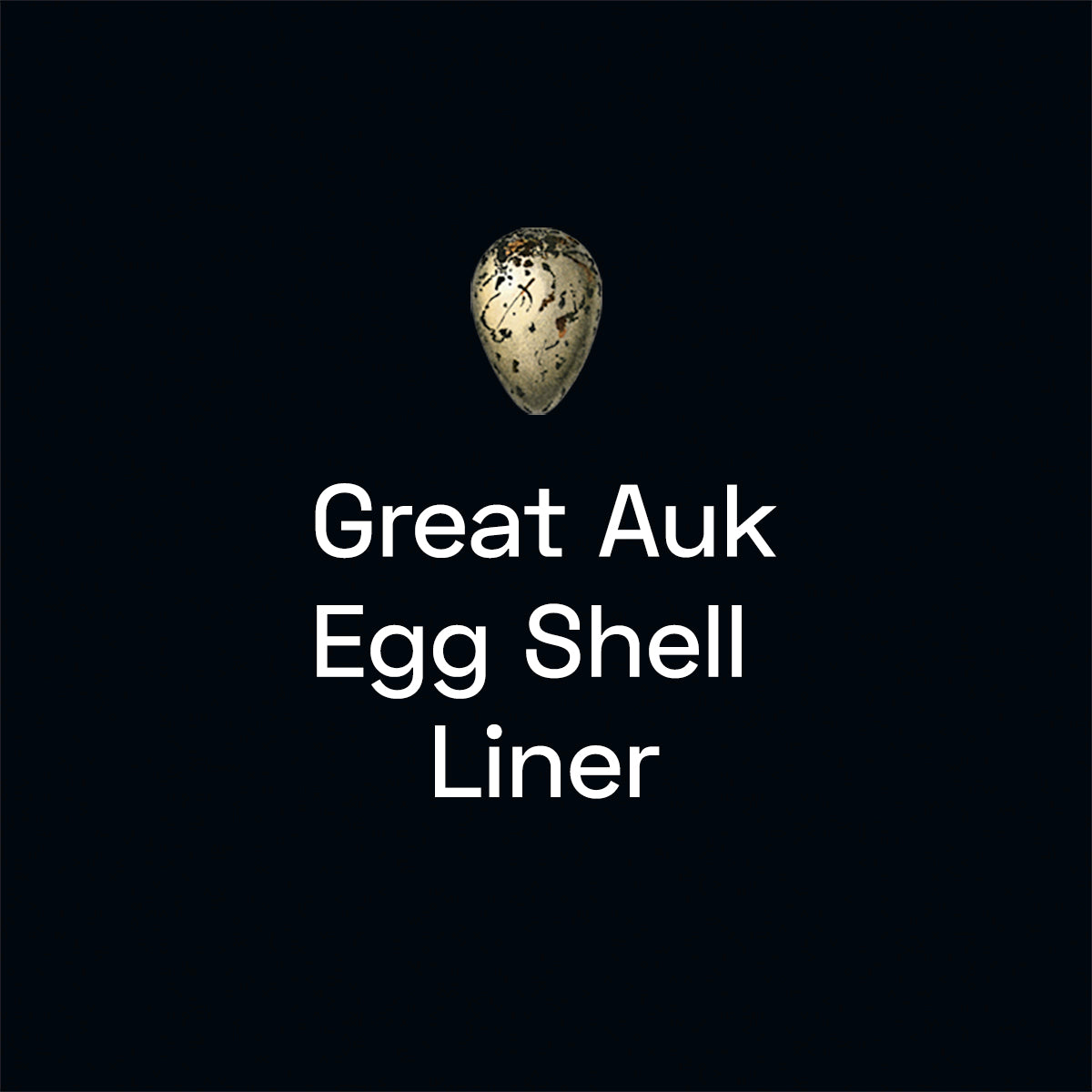 Great Auk Egg Shell Liner