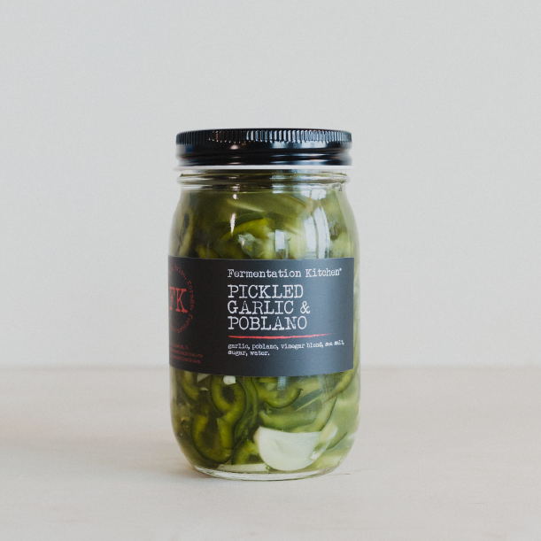PICKLED GARLIC & POBLANO