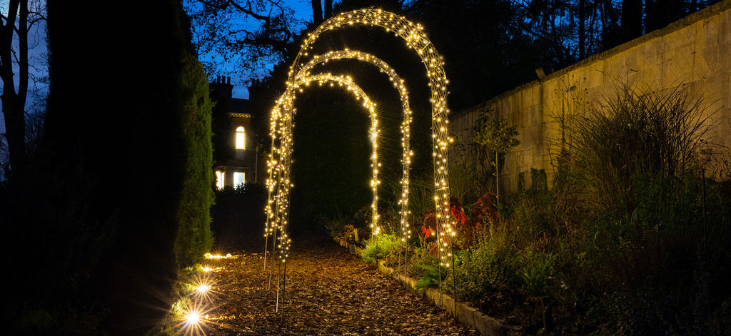 Agriframes Elegance Round Arch with Lyra Lights
