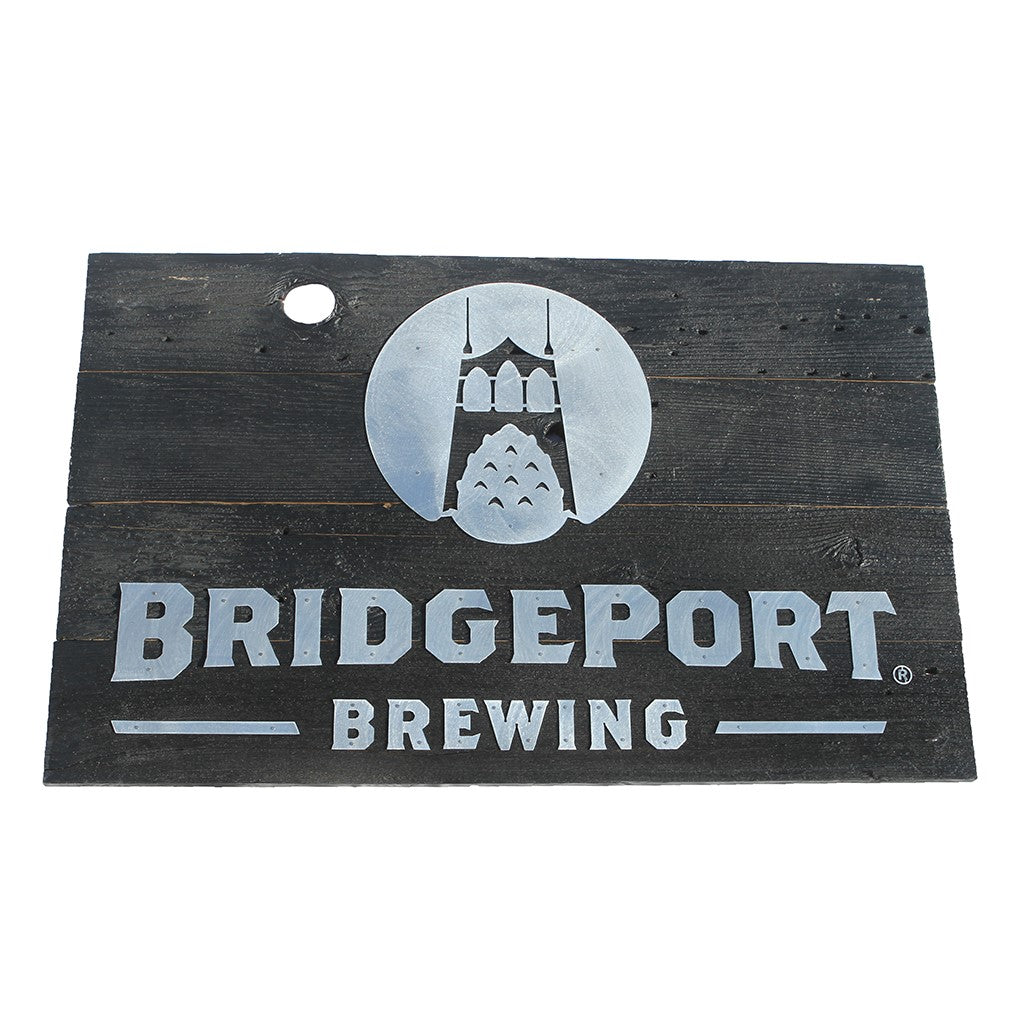 Wooden BridgePort Sign