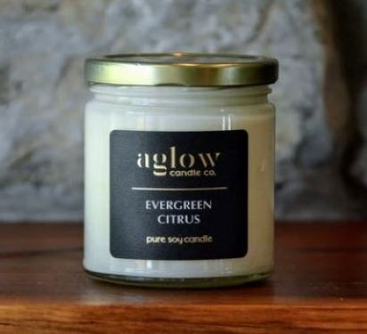 Aglow Candle - Evergreen Citrus
