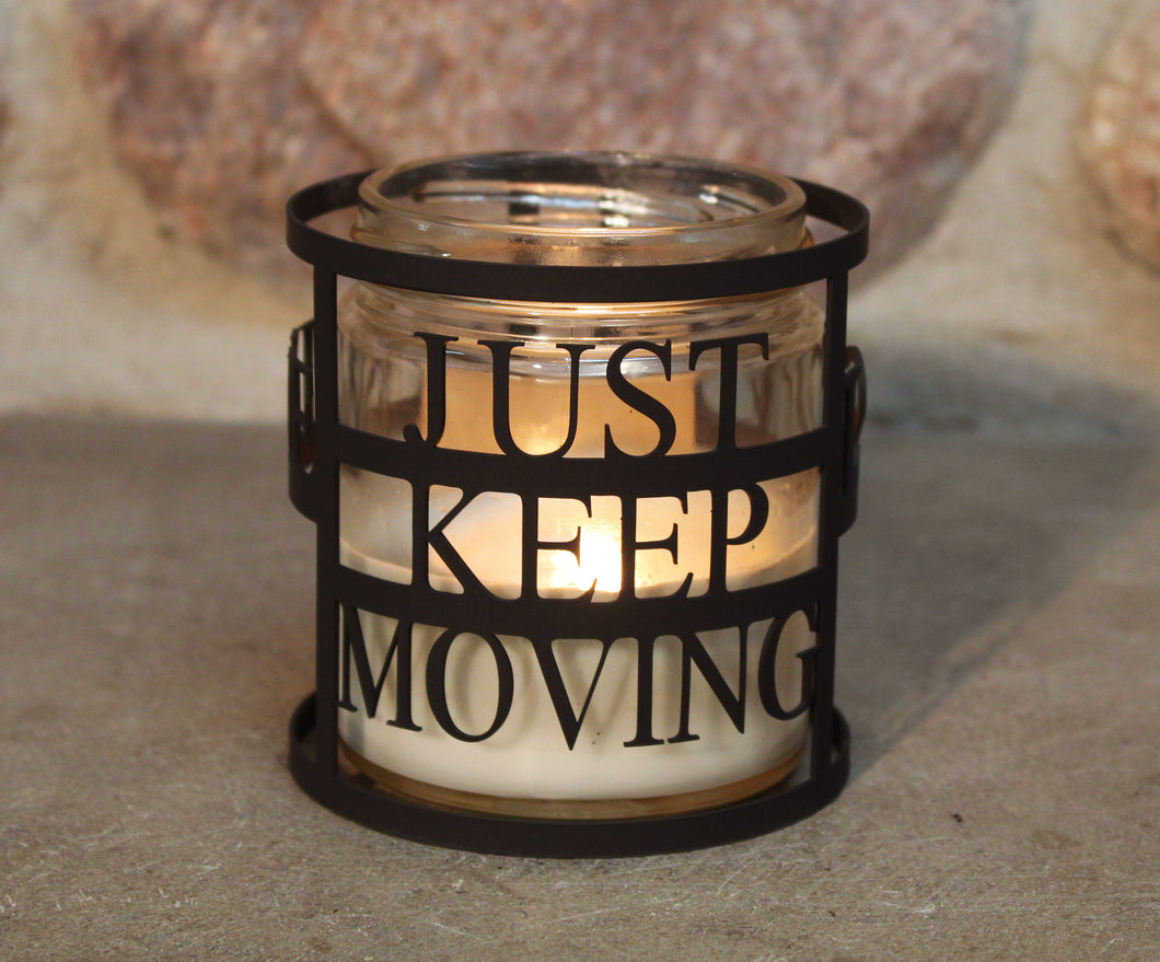 MS Just Keep Moving CandleWrap