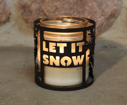 Let It Snow CandleWrap