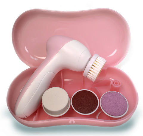 Cosmetic Face Cleansing Brush with 4 attachments
