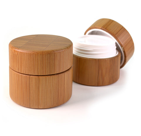 Cosmetics Bamboo Jar 30ml, 2 pcs