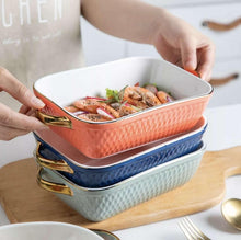 Load image into Gallery viewer, *Pre-Order* Ceramic bakeware with Gold Handles freeshipping - Kitchen-nista