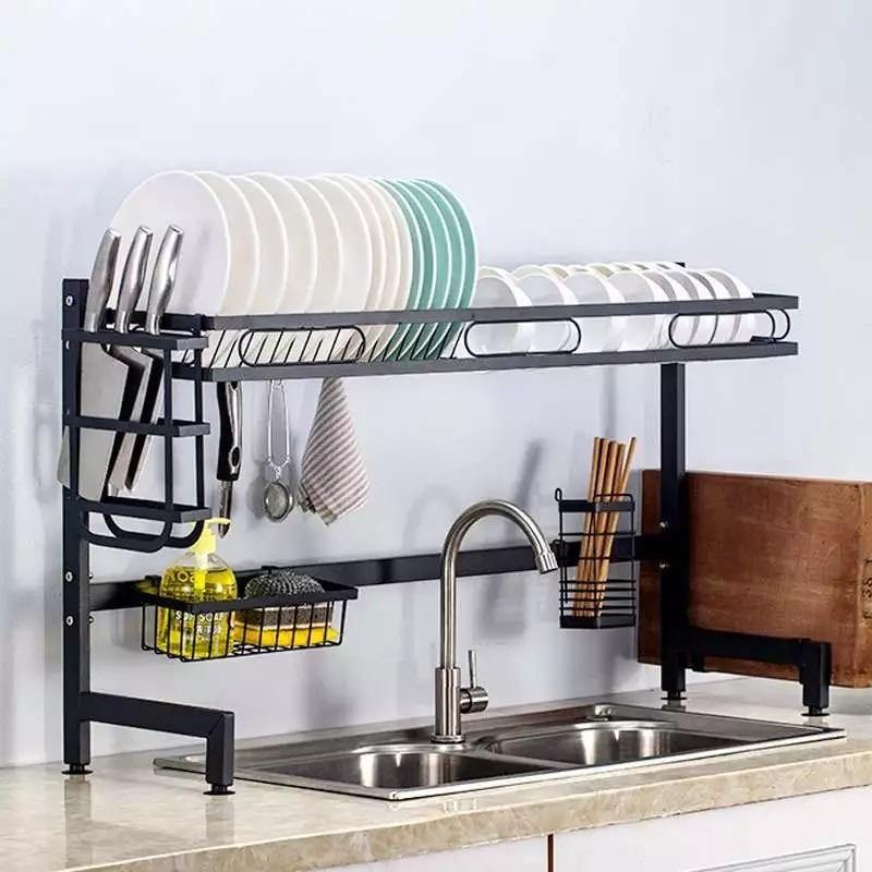 Stainless Steel Kitchen Shelf Organizer Over The Sink freeshipping - Kitchen-nista