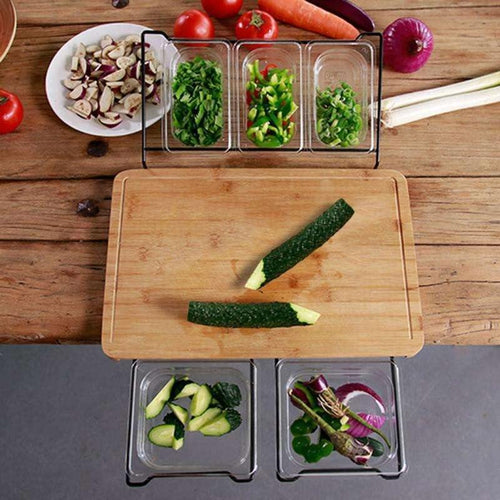 Bamboo Cutting Board with Storage box freeshipping - Kitchen-nista