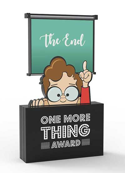 One More Thing Award